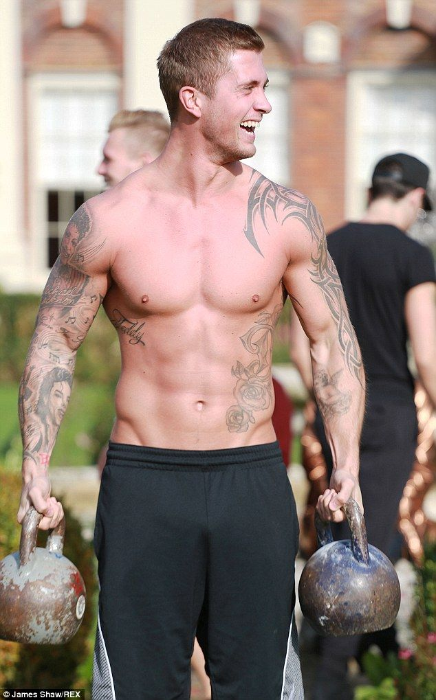Dan Osborne goes shirtless and cuddles up to newly single