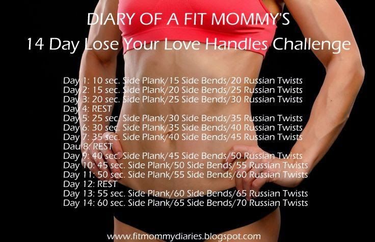Diary of a Fit Mommy: Diary of a Fit Mommy's 14 Day Lose Your Love Handl...