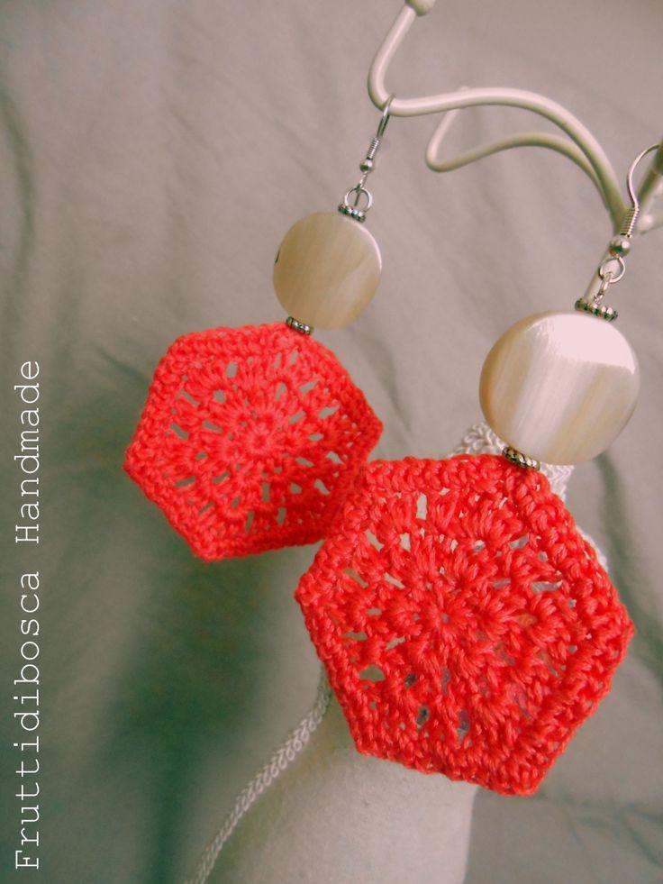 Orecchini all'uncinetto - Crochet earrings