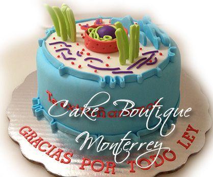 Animal Cell Cake Cell Cake Pastel de Célula Animal