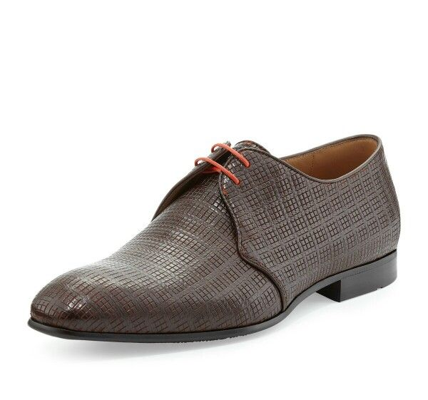 #Zapatos #Hugo Boss brown-motrec-woven-leather-lace-up #shoes