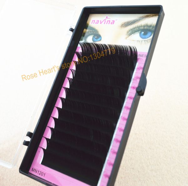 Retail Free Shipping 0.15 C Curve 8/10/12/14mm MINK Eyelash Extension Artificial Eyelash Fake False Eye Lash Eyelashes