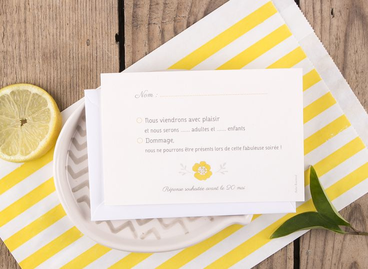 Carton réponse mariage Couronne champêtre by Mr & Mrs Clynk pour www.rosemood.fr #rosemood #atelierrosemood #wedding