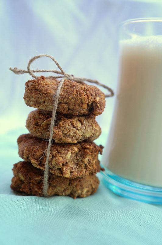 Healthy, quick, sugar and dairy free!!!  I came up with these because Imake alot of almond milk and wanted to use the pulp, and I love biscuits! So I freeze the pulp until I have no more co...