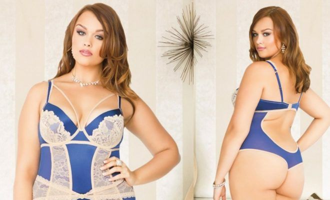 #DailyVenusDiva It's All In The Details With This Plus Size Teddy From Curvy Girl Lingerie @DailyVenusDiva #DailyVenusDiva