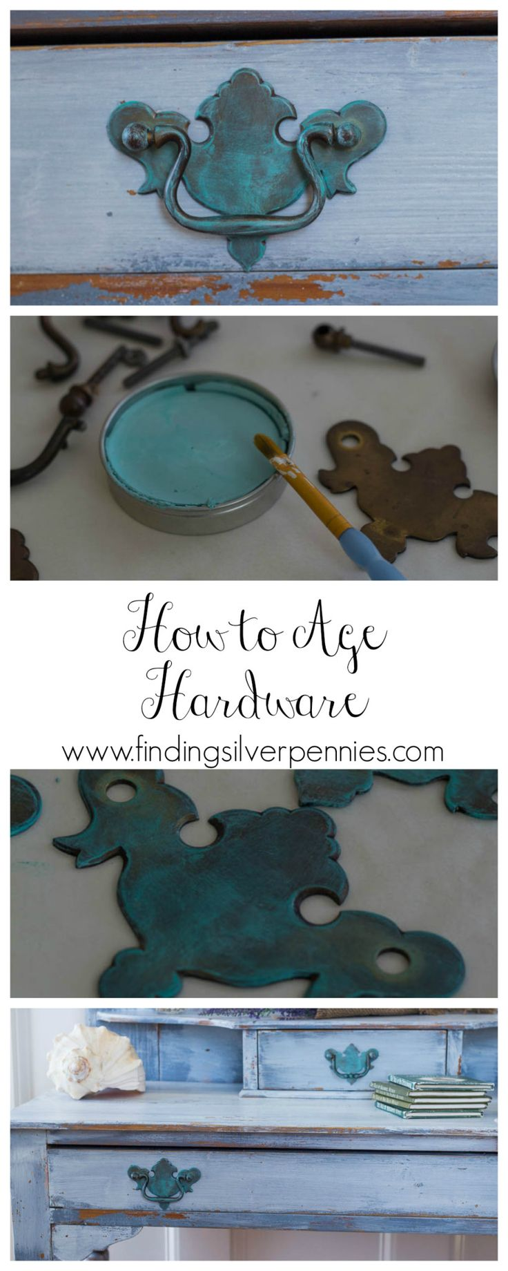 How to Age Hardware ~ Use 'Glider's Paste'...super easy, just takes minutes! *Click on photo for link.