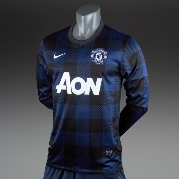Nike Mens Clothing - Manchester United Away Replica LS Shirt - Football - Navy