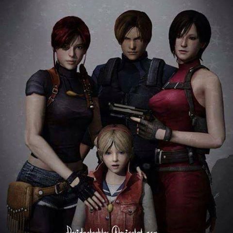 Resident Evil 2 Elenco Principal