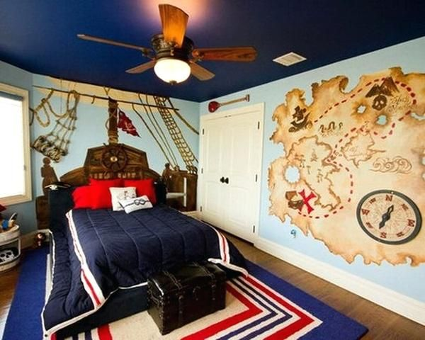 Pirate Bedroom Kids Bedroom Ideas With Pirate Theme That We Are Considering For Our Kids Room Later Get Ready Boy Bedroom Design Boy Room Paint Bedroom Themes