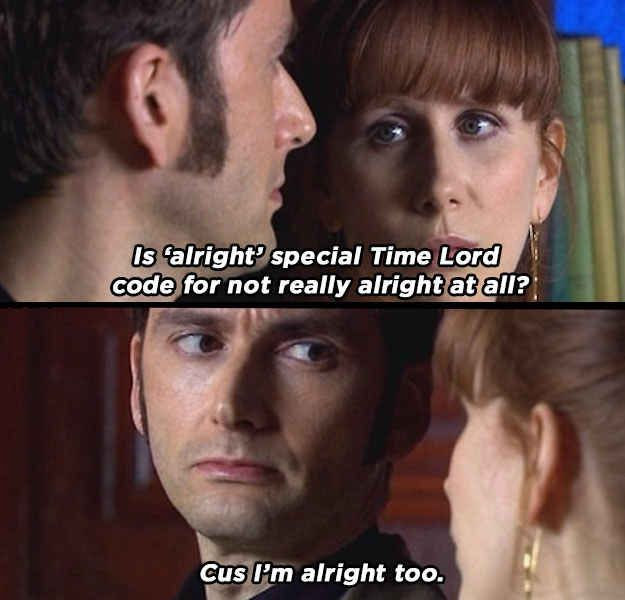 Alright - 25 words that mean something completely different on Doctor Who