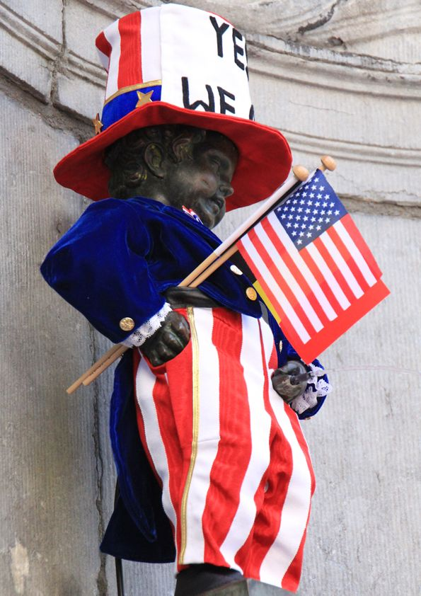 From Brussels the Manneken-Pis wishes you all happy Independence Day!