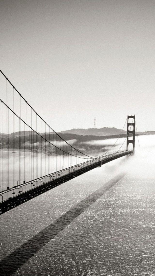 Download Black And White San Francisco Golden Gate Bridge Iphone 5 Wallpaper Bridge Wallpaper Black And White Wallpaper Iphone San Francisco Golden Gate Bridge