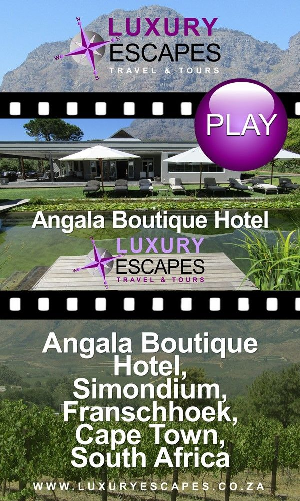 Join us as we visit luxurious Angala Boutique Hotel in Franschhoek. Watch on https://youtu.be/XUcbh4ehZm8 . Enjoy!
