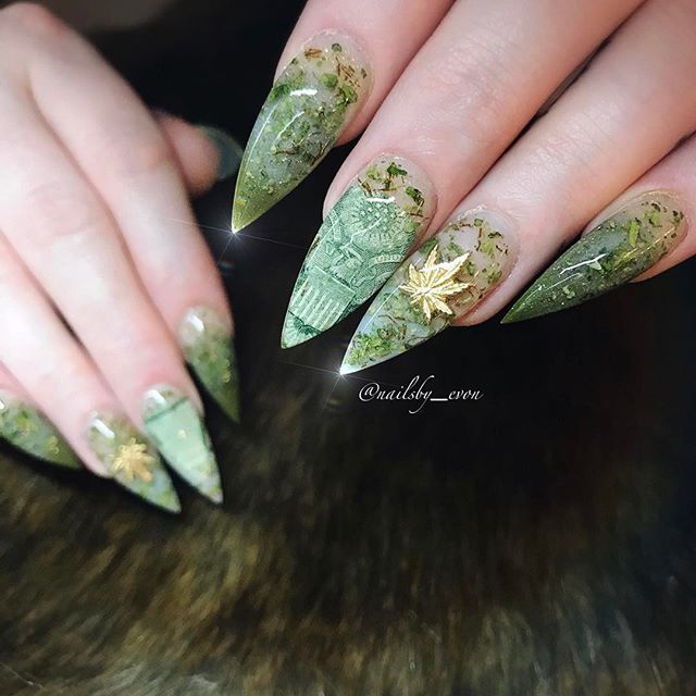 Weed Nail Designs Simple Design Ideas View Images