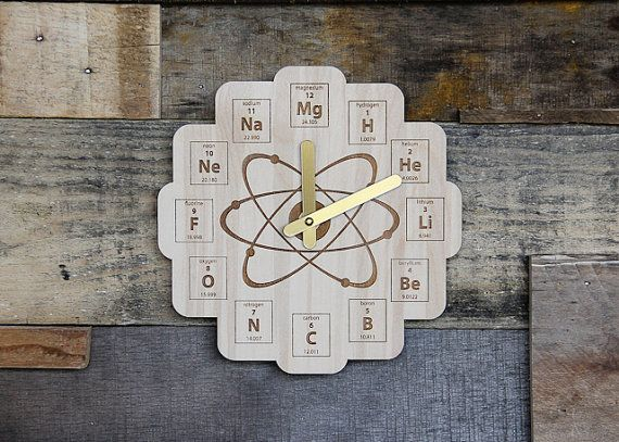 61 best chemistry images on pinterest chemistry chemistry handmade wood periodic table clock baltic birch by minifab urtaz Choice Image