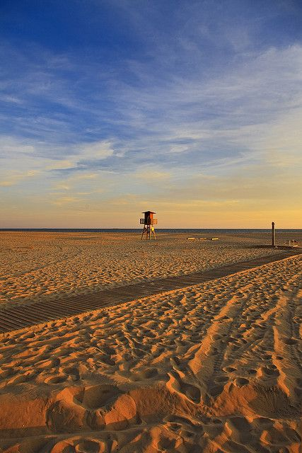 El Portil. Beach. Sunset. Lifeguard stand. Huelva. Andalusia. Spain, via Flickr. by Thomas Fano