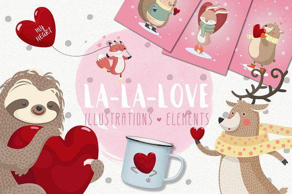 La-La-Love. Romantic collection. by Good Genie on @creativemarket