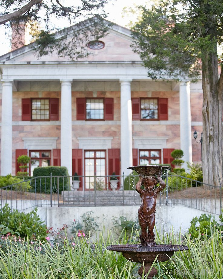The 19 best north georgia wedding venue the tate house images on elegant pink wedding at the tate house mansion one of the many fountains you junglespirit Gallery