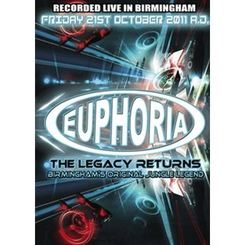 Euhporia The Legacy Returns - 6xCD Pack Label:Innovation  Catalogue Number: EUPHCD001 Format: 6 x CD Pack Styles: Drum and Bass  £17.49 (£20.99 inc VAT)