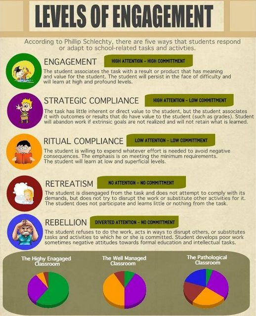 a must see visual featuring the 5 levels of student engagement | for