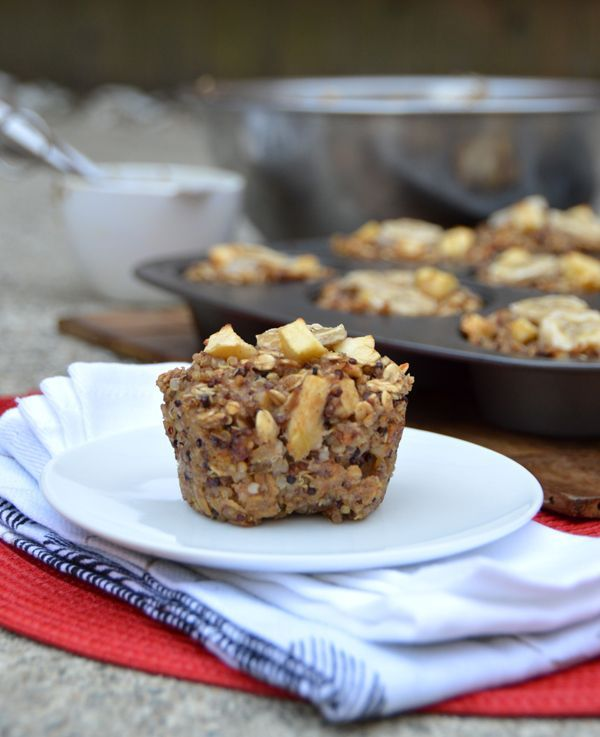 Apple Banana Quinoa Breakfast Cups