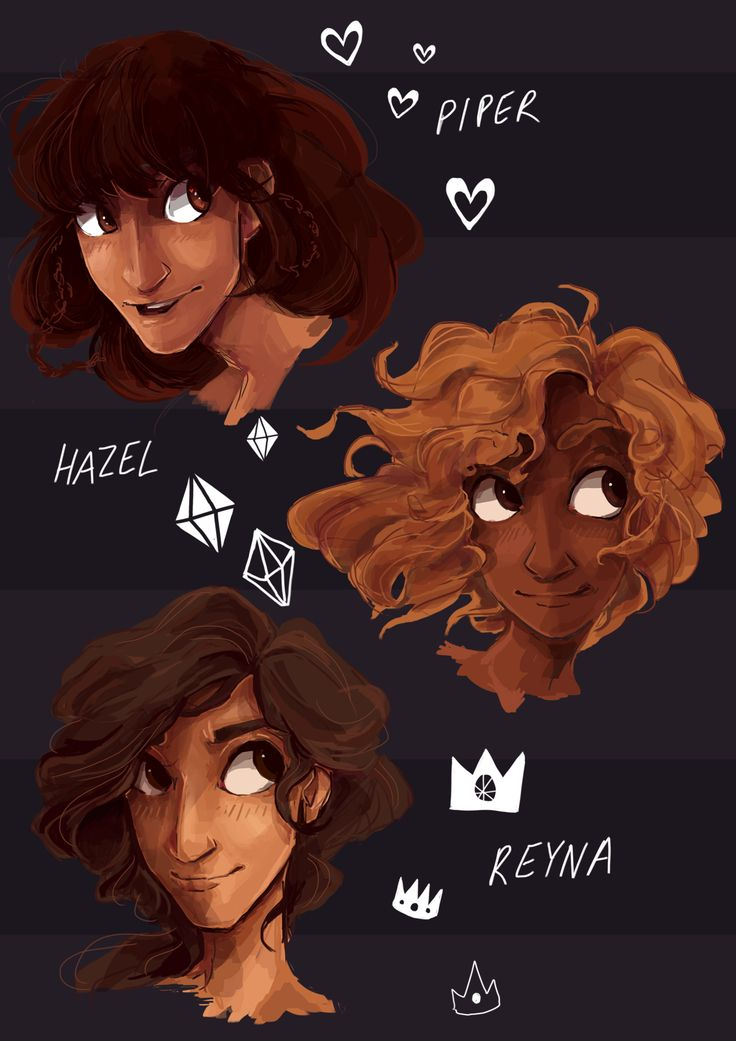 I *think* I'll be going with this for one of my pjo fanzine pages :) It's not especially interesting but hey, headshots are what I'm kinda known for! And how could I not include these girls :)