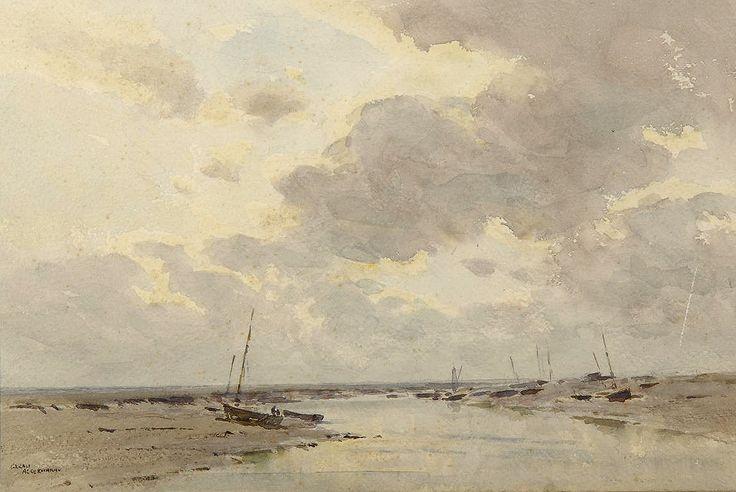 Arthur Gerald Ackermann (1876 — 1960, UK) The Marshes. watercolour. 23 x 34.5 cm. (9 x 13½ in.)