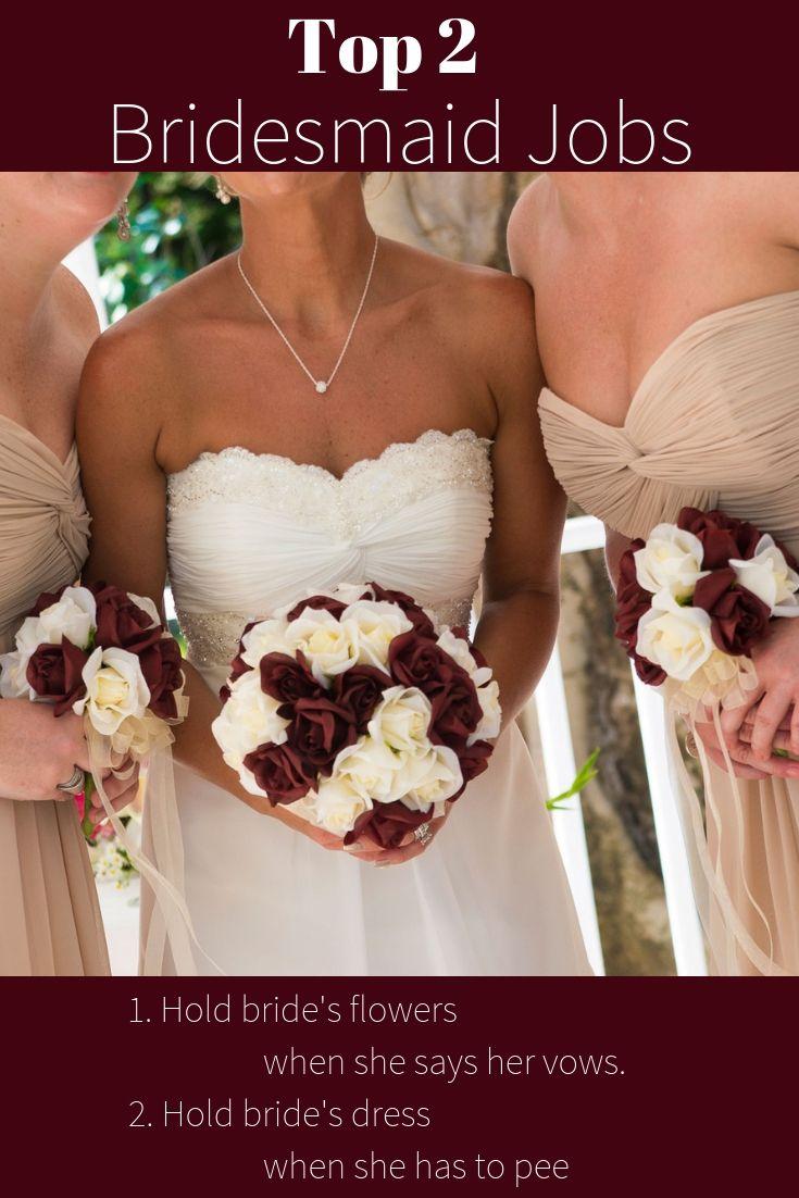 Burgundy Ivory Garden Rose Stem Silk Flower Bridal Bouquet