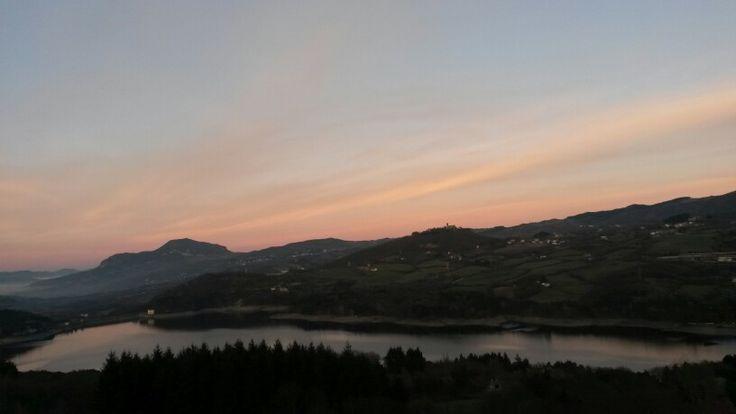 Vista lago di Suviana...