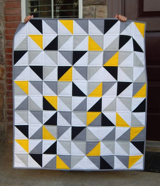 You probably know that I have been working on yellow and gray quilts for that last month, but this was the first one that started it all....