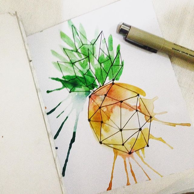 Switching rendering palette.  Watercolor for today.  Living in a tropical…