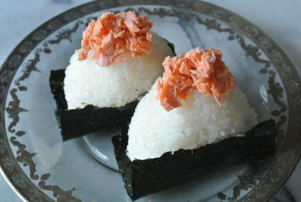 Salmon shiozake (salted salmon), esp as an onigiri filling...!
