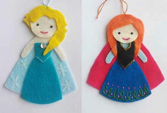 Frozen Felt Ornaments
