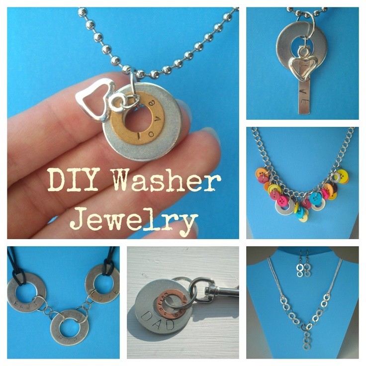Crafty Imaginings & Silly Things: More DIY Washer Jewelry