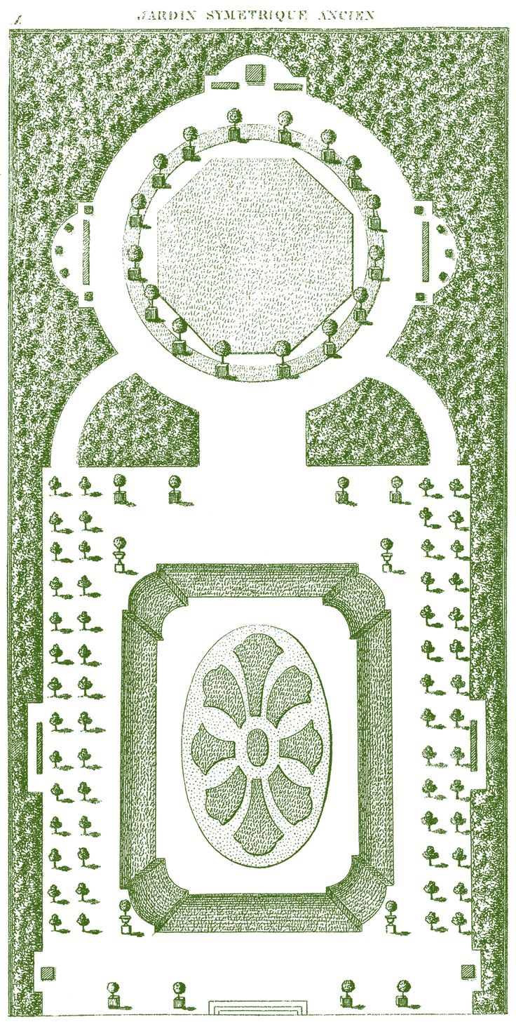 Love Garden Plans Like This French Garden Plan, A Free Image From The