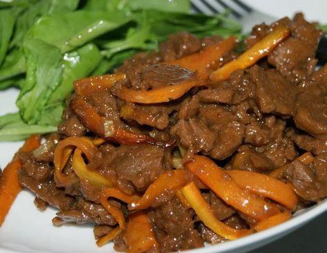 Carne de Soja com Cenoura e Molho de Laranja