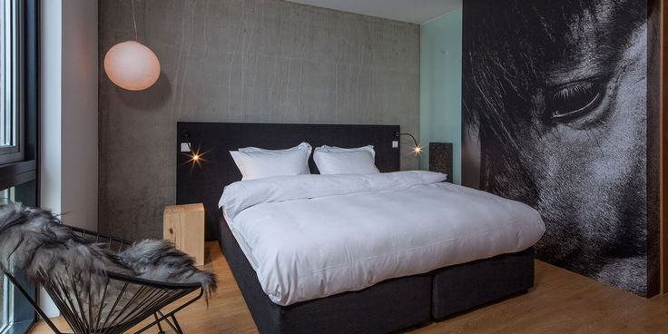 Contemporary room with Icelandic style at ION Luxury Adventure Hotel near Reykjavik