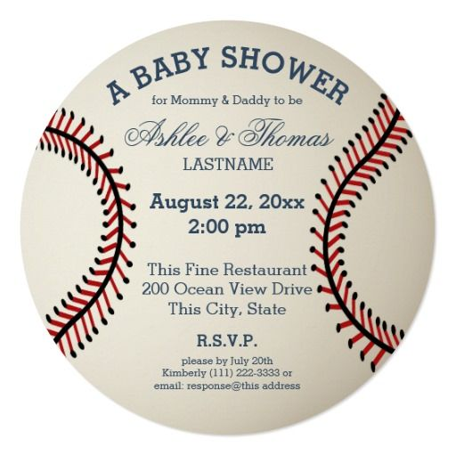 best baseball baby shower invitations images on, Baby shower