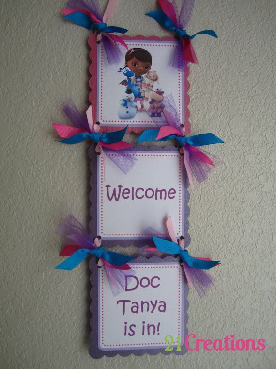 Doc McStuffins Door Sign by 21CreationsToo on Etsy