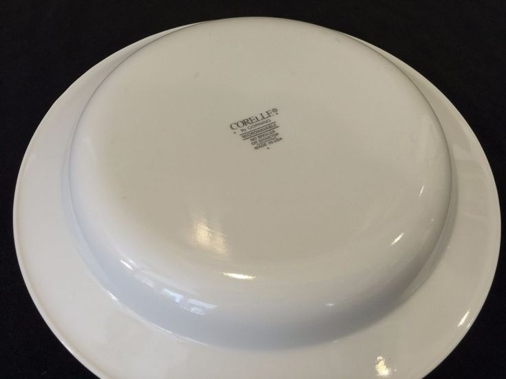 "Corelle by Corning White Pasta Bowl, Made in USA, 8 1/2"" Diameter x 1 1/4"" High…"