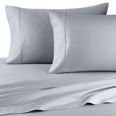 Wamsutta 400 Thread Count Super King Sheet Set In Sky Sky Blue King Sheet Sets Wamsutta Bed Sheet Sets