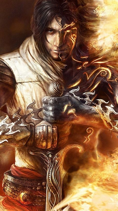 480x854 Wallpaper prince of persia, arm, fire, body, magic
