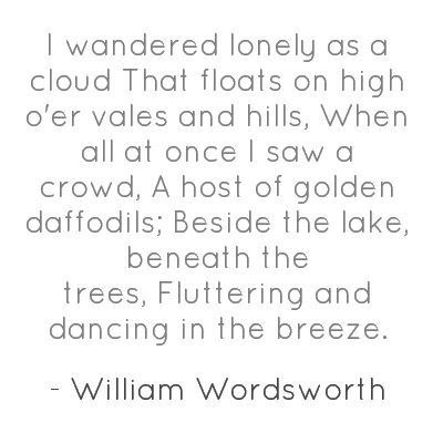 daffodils poem by william wordsworth essay Daffodils essays (examples) filter daffodils by william wordsworth and view full essay the first word in the title of clarke's poem firmly aligns her work.