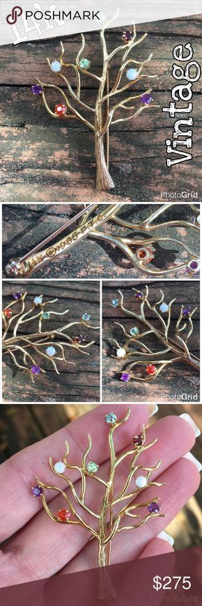 "14k Tree Of Life Vintage Multi Gemstone Brooch Amazing 14k Yellow Gold Vintage Tree Of Life Multi Gemstones Brooch. Marked 14k 1966 F.T.C. w/ copyright stamp. Measurements: 2.25"" Long X 1.5"" Wide. Weight 5.89 grams. The Brooch has Blue Topaz, Peridot, Garnet, 2 Opals, 2 Amethyst & a Orange stone that not sure what it is? The Brooch is in great vintage condition! Don't wait, purchase today! Thanks 4 looking. I ship same day. Buy w/ confidence 364 5 star feedback. Please make REASONABLE offer…"