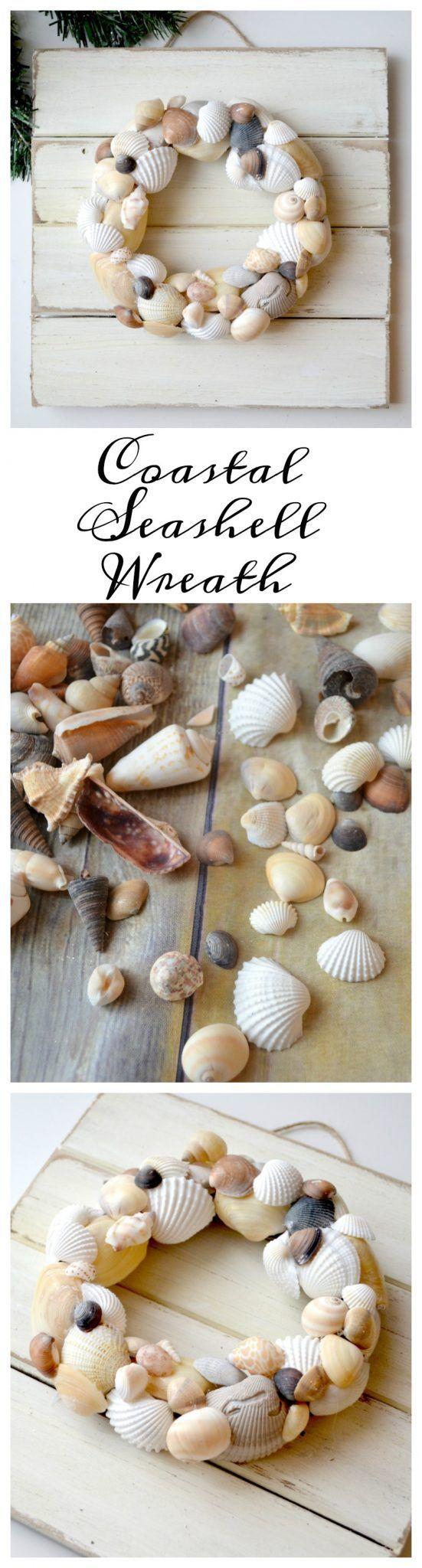 Coastal Seashell Wreath - One Artsy Mama
