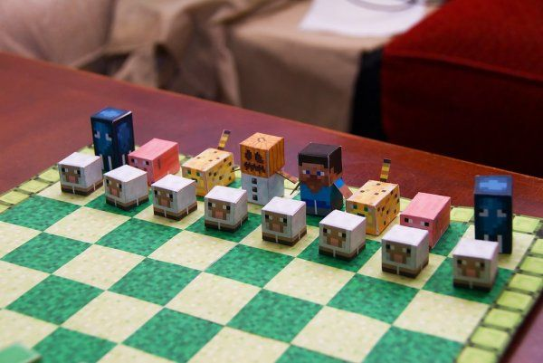 Minecraft Chess Set Bing Images Minecraft Pinterest
