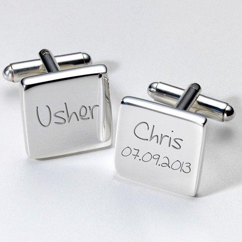 Engraved Usher Cufflinks