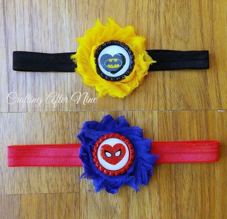 Superhero Headband, Marvel, Headband, Villain Headband, Spider Headband, Black, Yellow, Bat, Halloween Headband, Photo Prop, Hero Headband - pinned by pin4etsy.com