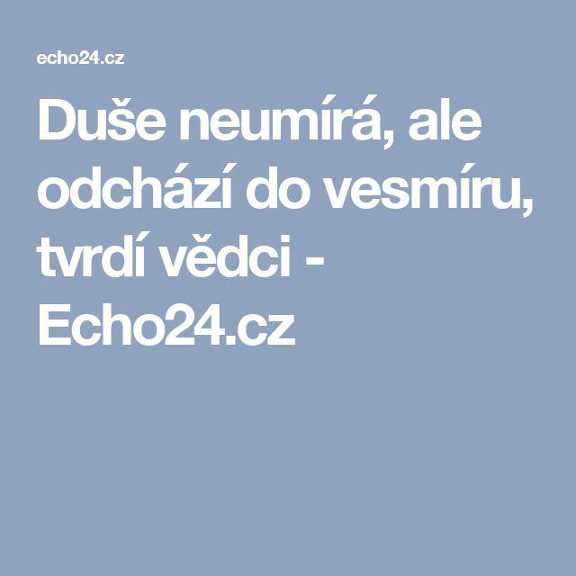 Duše neumírá, ale odchází do vesmíru, tvrdí vědci - Echo24.cz