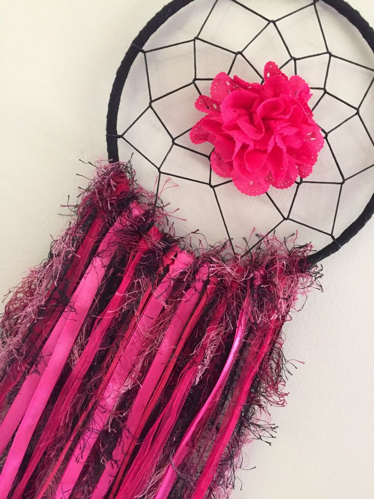 A personal favourite from my Etsy shop https://www.etsy.com/au/listing/498385288/dreamcatcher-black-pink-bedroom